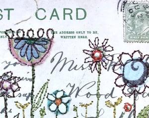 Field Flowers Framed Postcard Piece