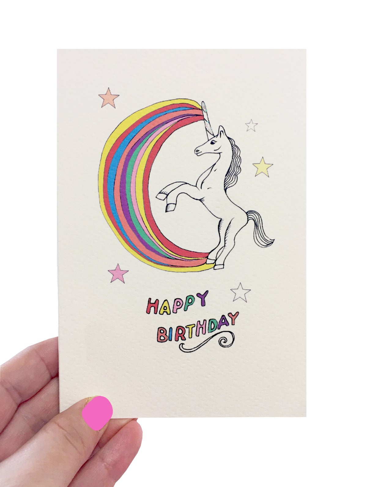 Unicorn Stars Card