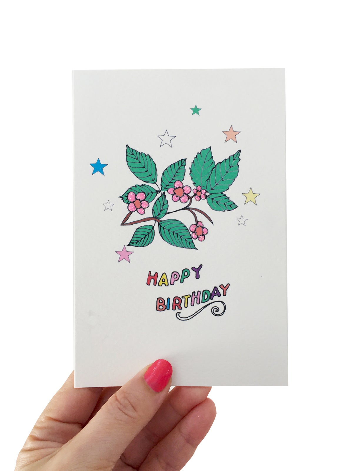 Bramble Stars Birthday Card