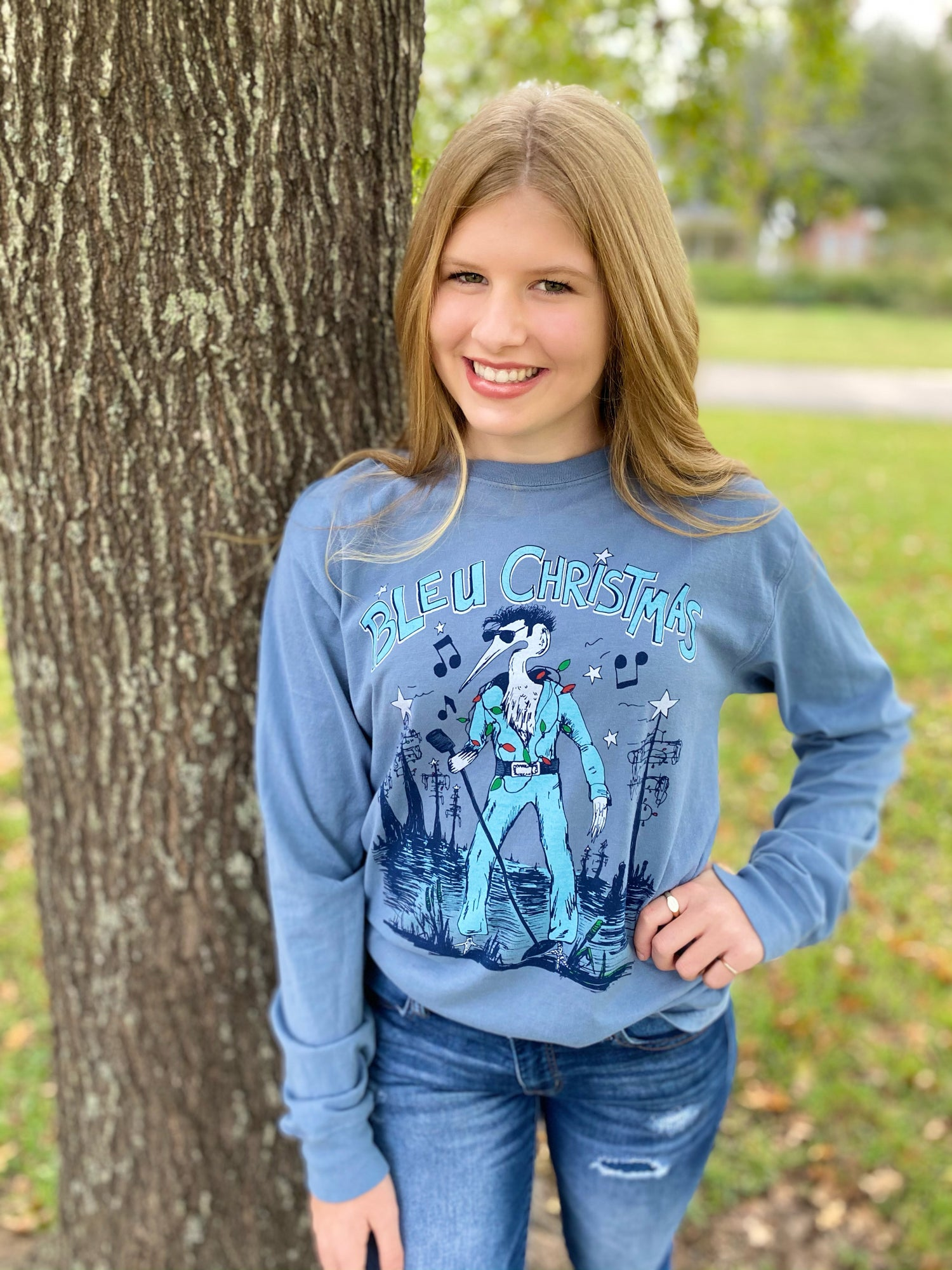 Image of Adult Bleu Christmas in Stone River Blue