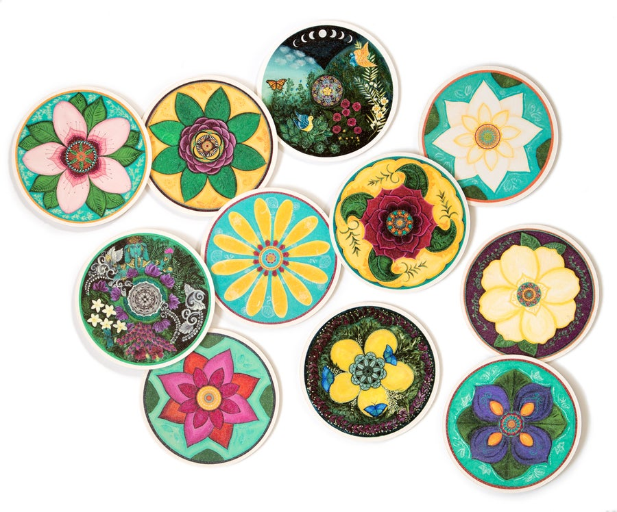Image of Mandala Blooms Coasters