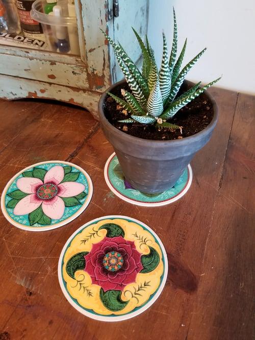 Image of Mandala Blooms Coasters