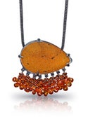 Tangerine Druzy Necklace