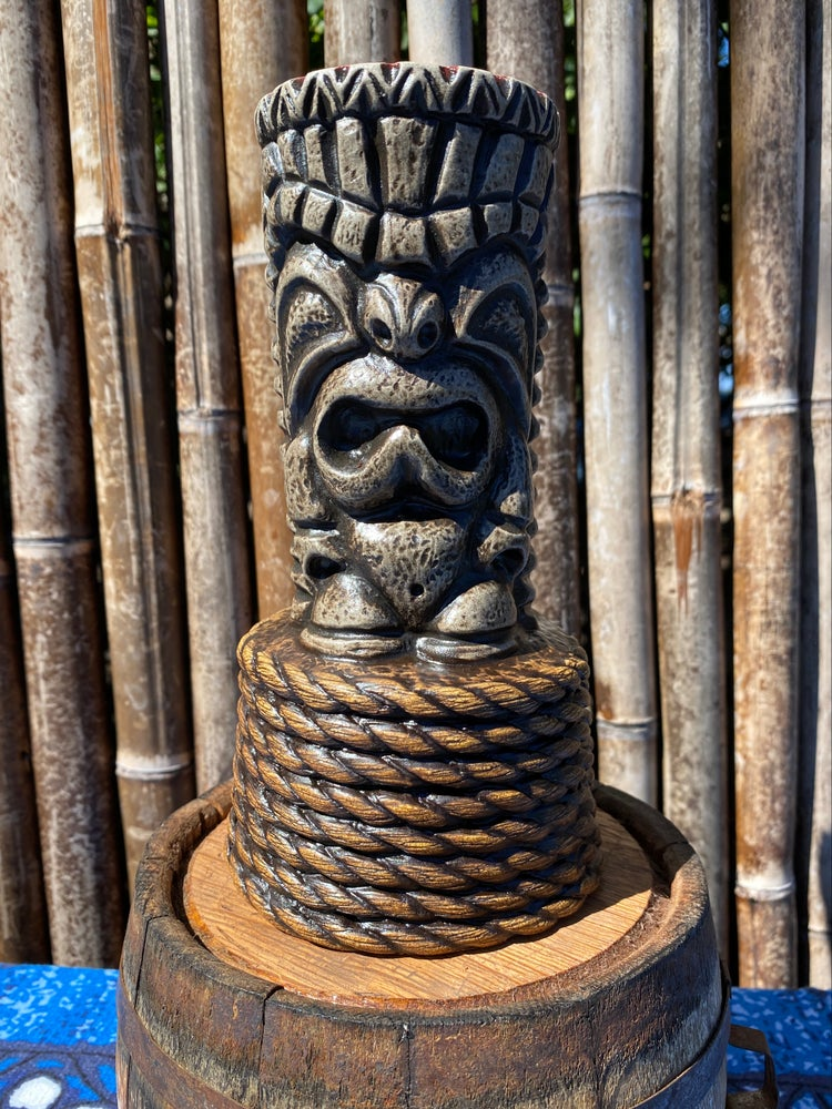 Image of Lava Grey Nauti-Ku 2.0 Tiki Mug - Speckled Red