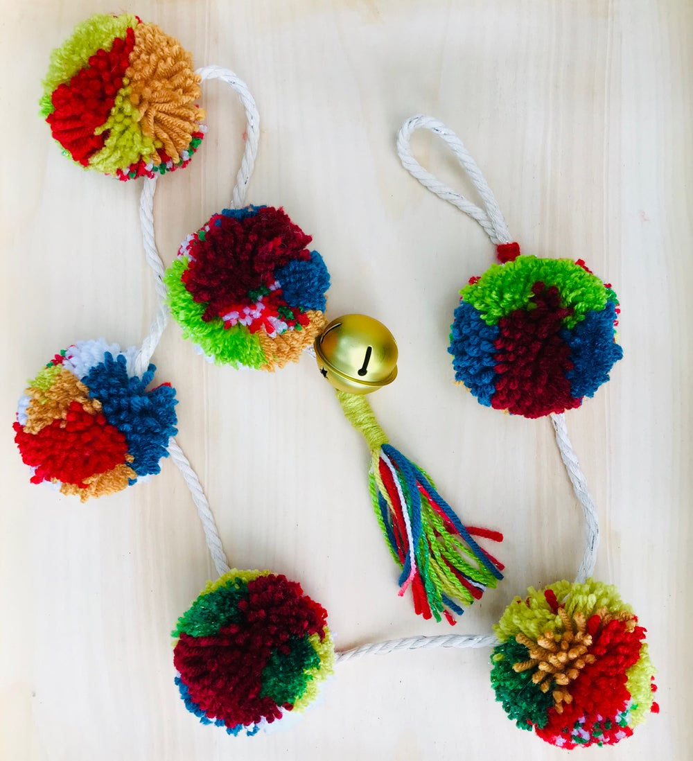 Custom Made Pom Pom Christmas Garland