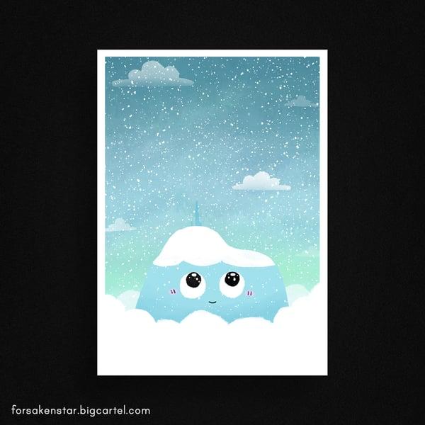 Image of Puy-de-Dôme - snow - A4 (21 x 29,7 cm)