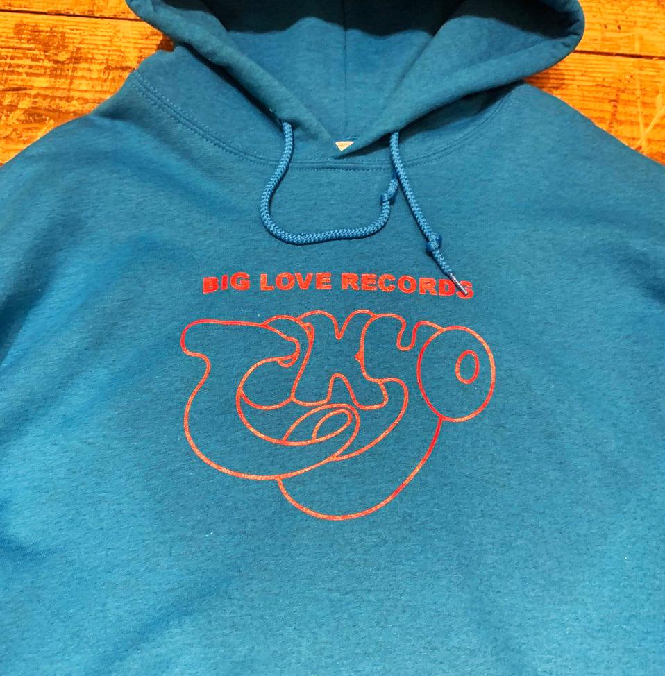 Image of BIG LOVE X PETER SUTHERLAND  -TOKYO BLUE- HOODIE