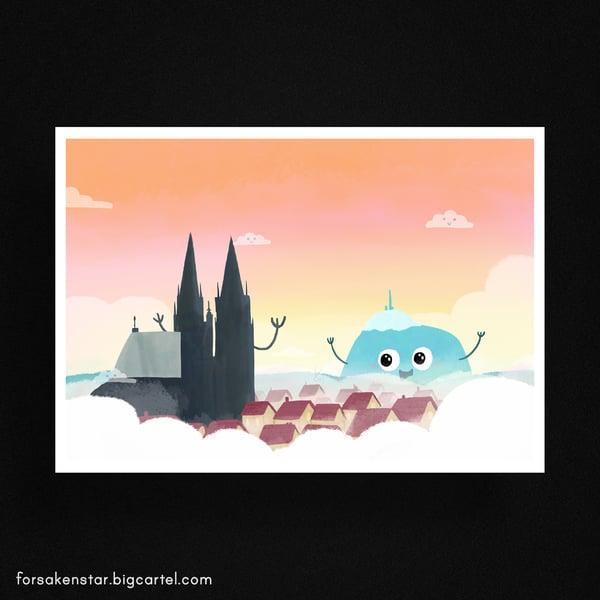 """Image of Puy-de-Dôme - """"hi there"""" - A4 (21 x 29,7 cm)"""