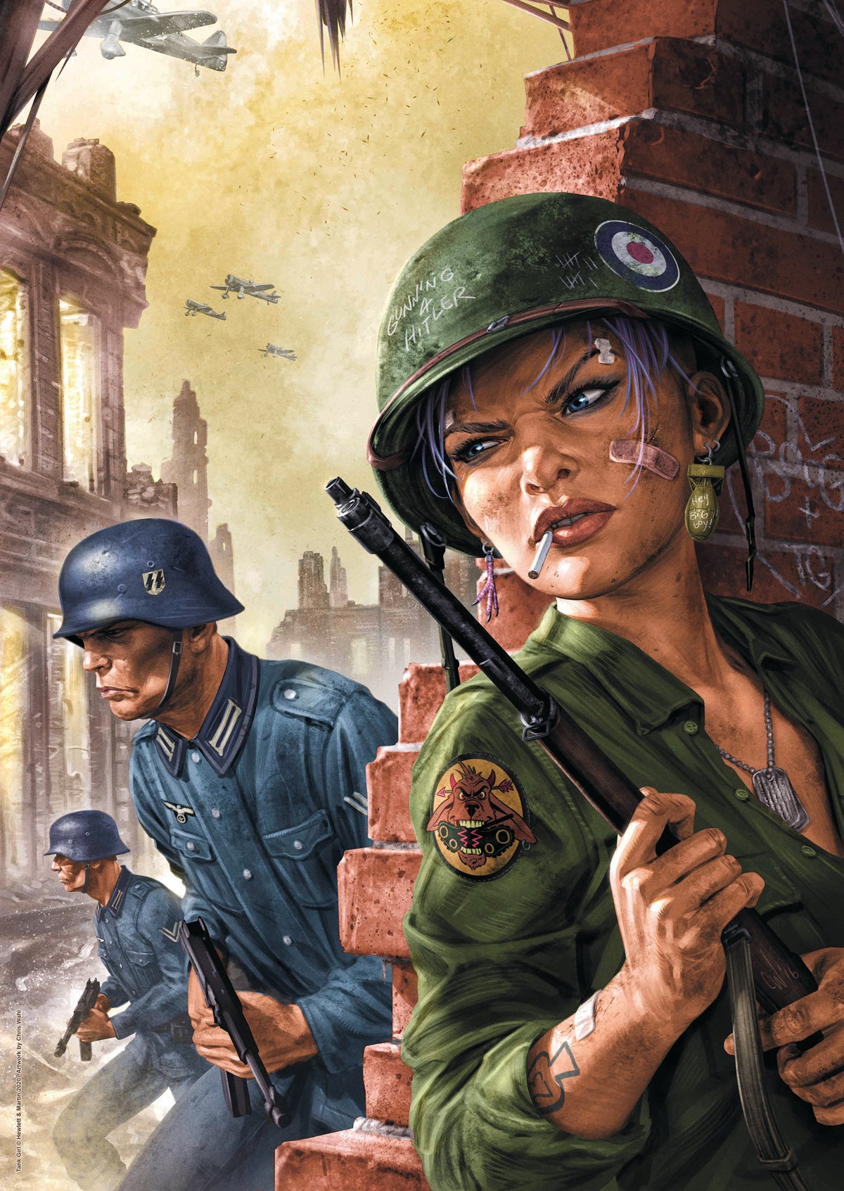 Image of WORLD WAR TANK GIRL A2 POSTER PRINT - with BONUS POSTER!