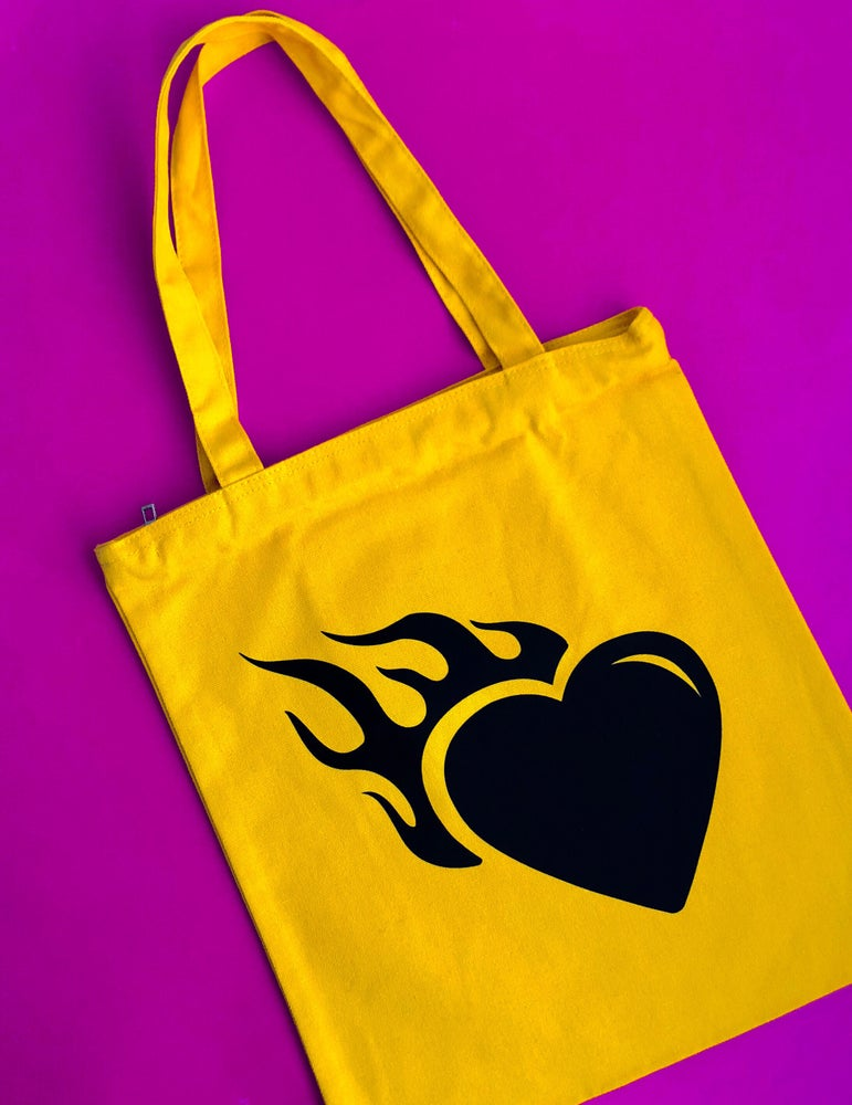 Image of HEART FLAME TOTE BAG
