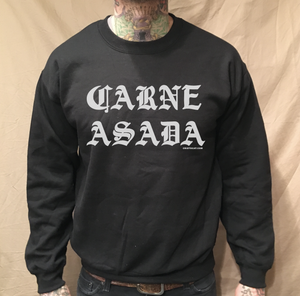 Image of CARNE ASADA CREWNECK BLACK SWEATER