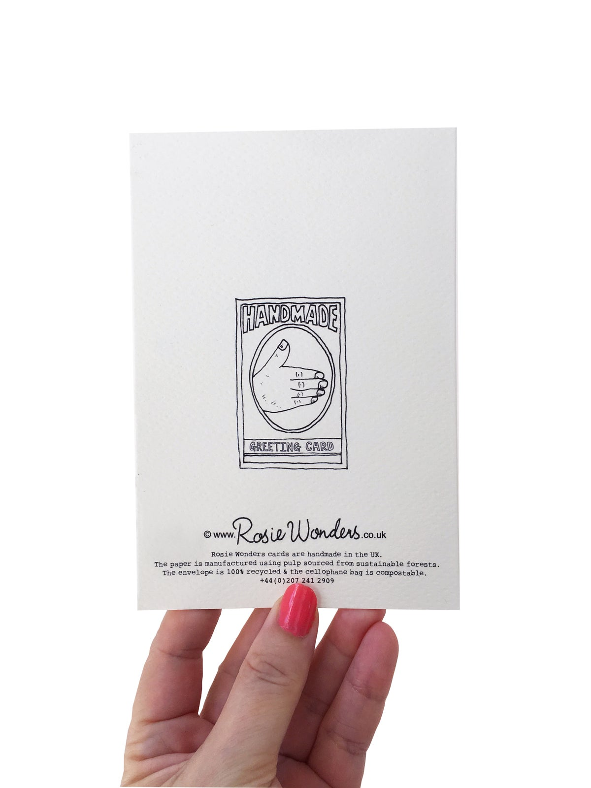Grey Cat Birthday Card