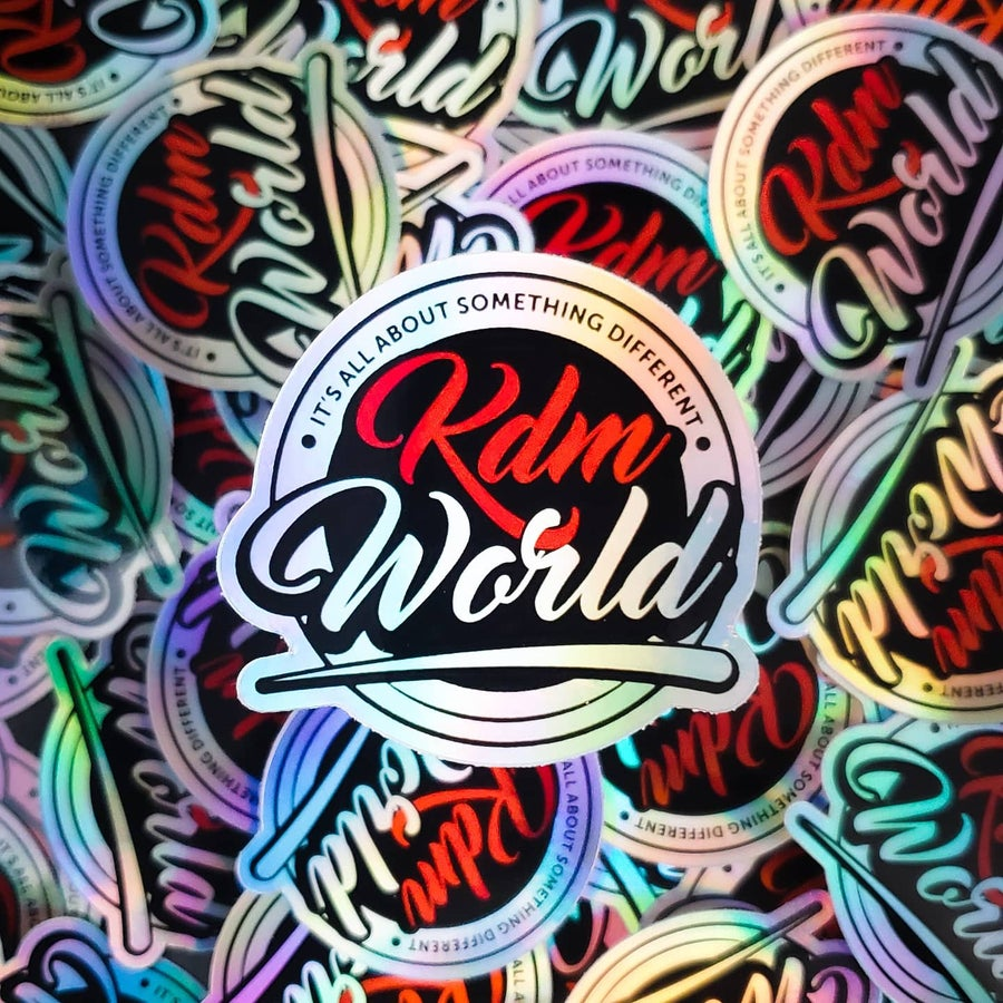 Image of KDM WORLD LOGO HOLOGRAPHIC