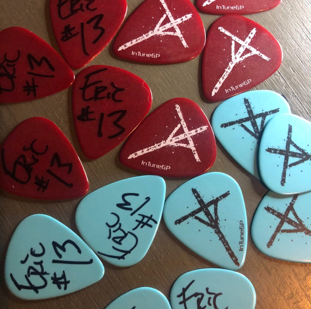 Image of AUTOGRAPHED RETRO RUNE Pick Set