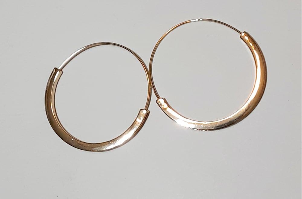 Slim Thick Framed Hoop Earrings