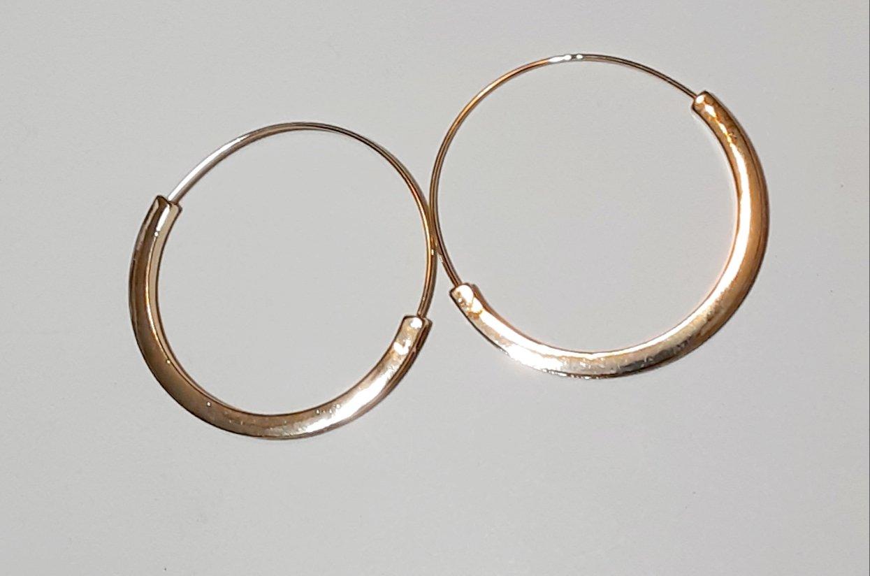 Image of Slim Thick Framed Hoop Earrings