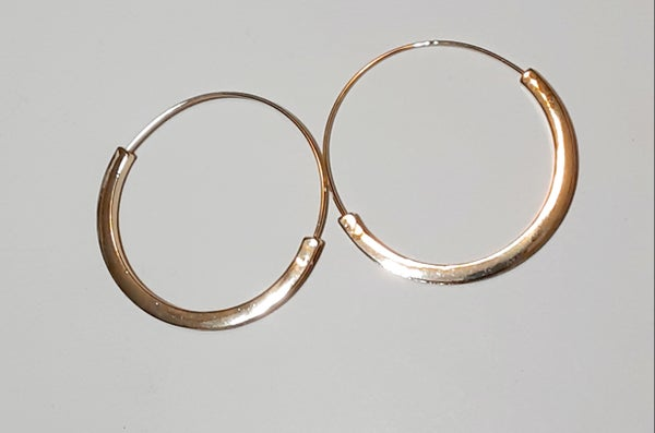 Image of Slim Thick Framed Hoop Earrings