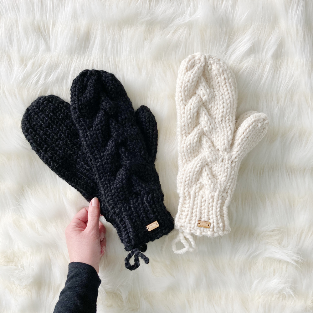 Image of Chunky Knit Mittens - Size Adult - Choose Your Colour