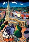 Market Harborough Church Street Aerial Print