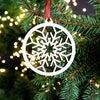 Wooden Christmas Decorations - Snowflake