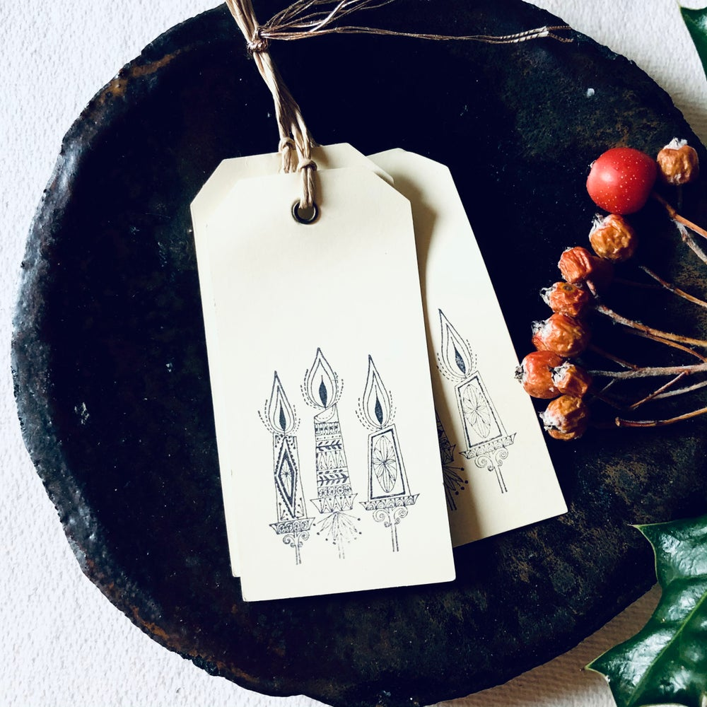 Image of Mid Century Christmas Candle Gift Tags