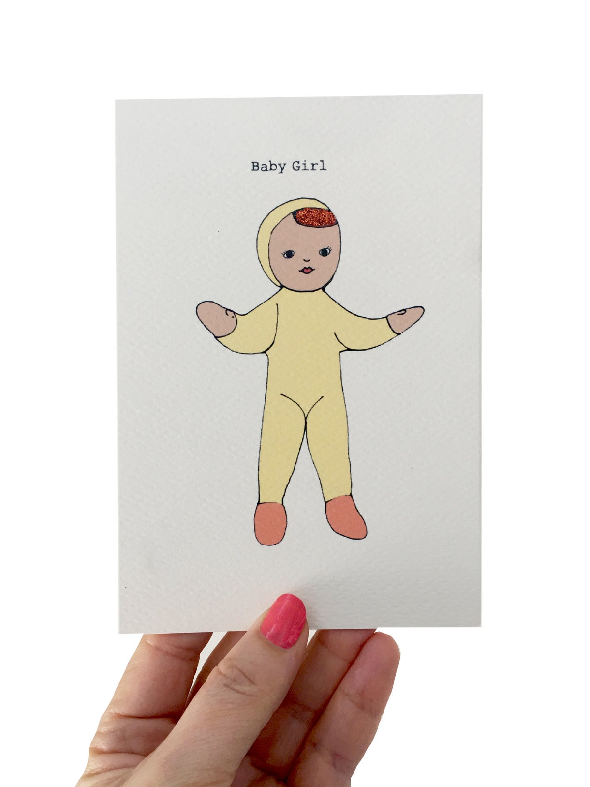 Baby Girl Card - Pink or Yellow Suit