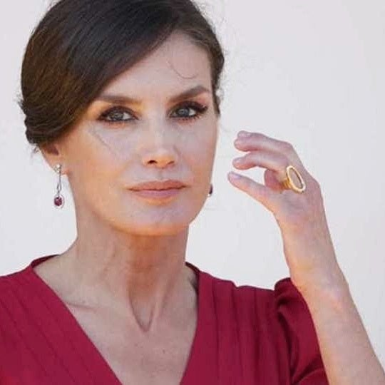 Image of Sterling silver signature ring as worn by H.M. Reina Letizia, queen of Spain.
