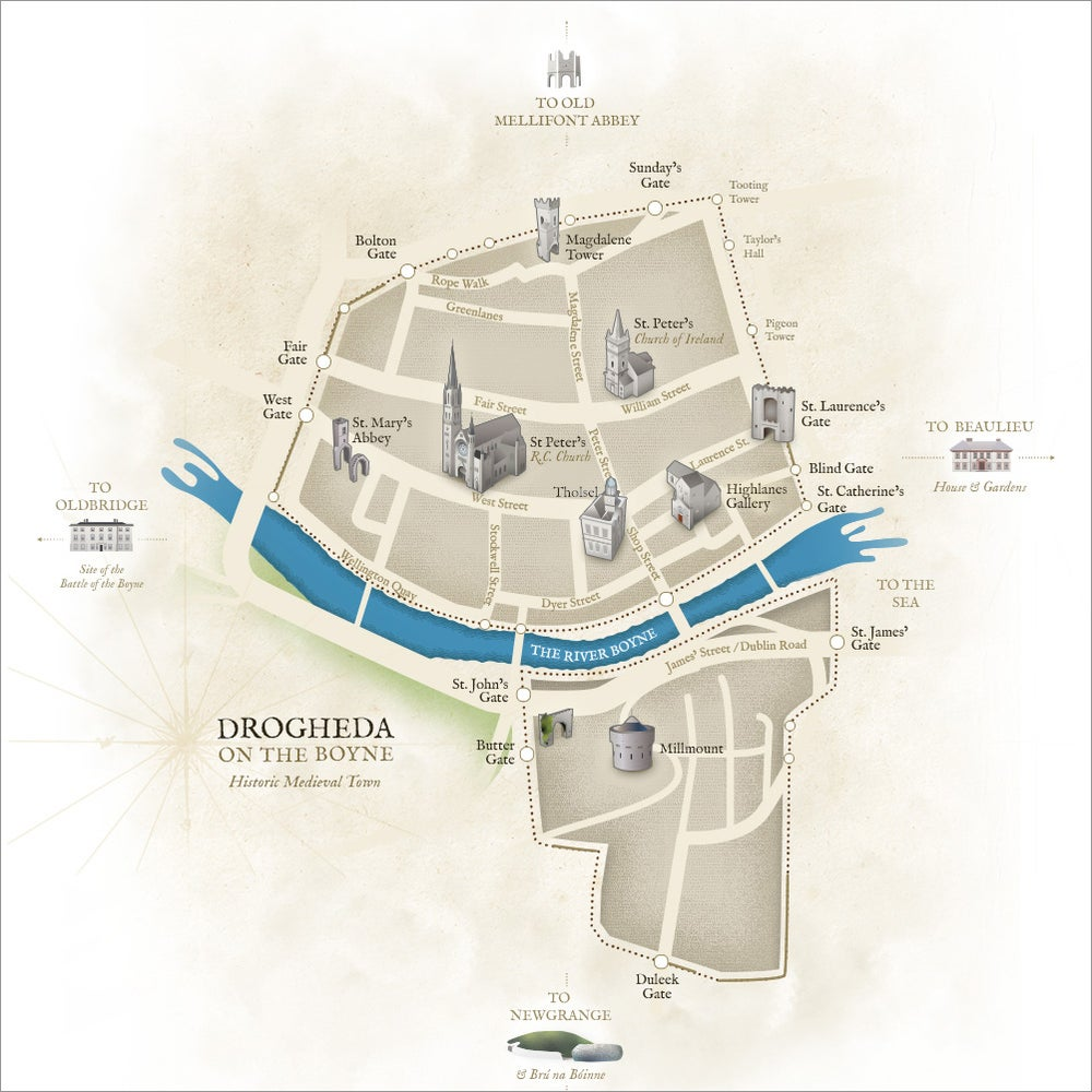 Old Drogheda Walled Town Map
