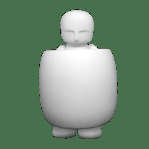 "BARREL MAN ""Canvas White"" DIY 4.5 in"