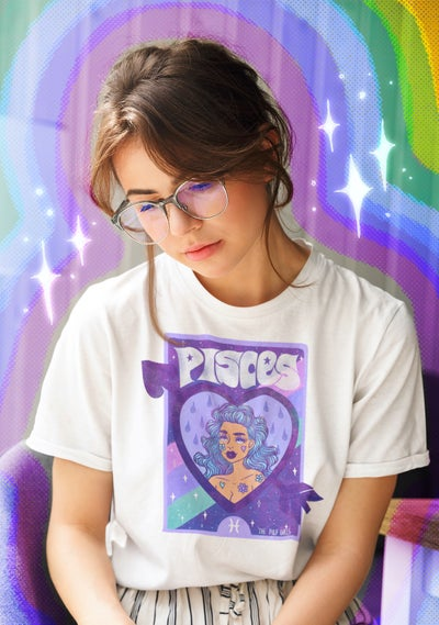 Image of PISCES ASTROLOGY TEE AND MUG