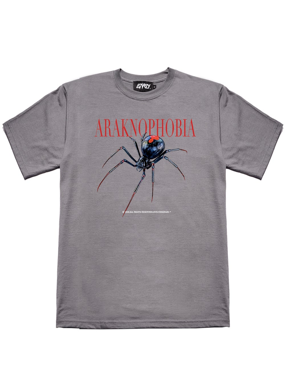 Image of ARAKNOPHOBIA GRAY TEE