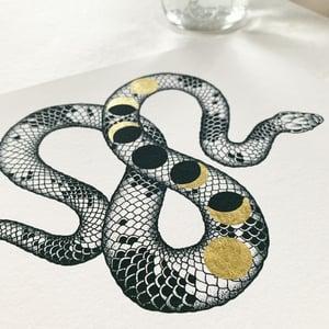 Image of Change: gold leaf-embellished print