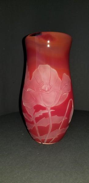Image of Red Poppy vase