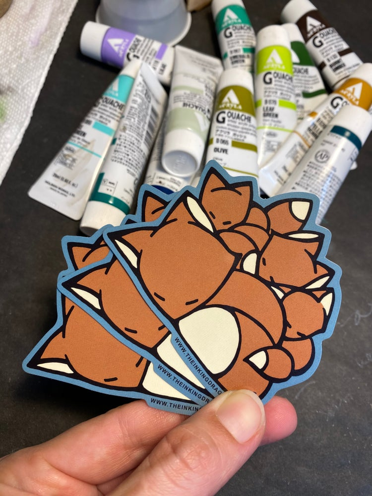 Image of Sleeping Foxes - (Two Stickers)