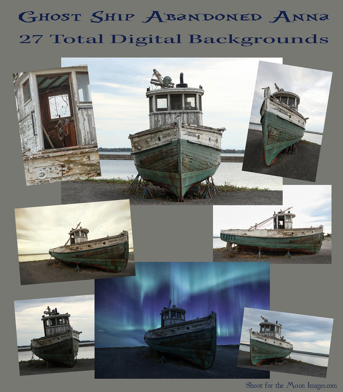 Image of Ghost Ship Abandoned Anna DIGITAL BACKGROUNDS
