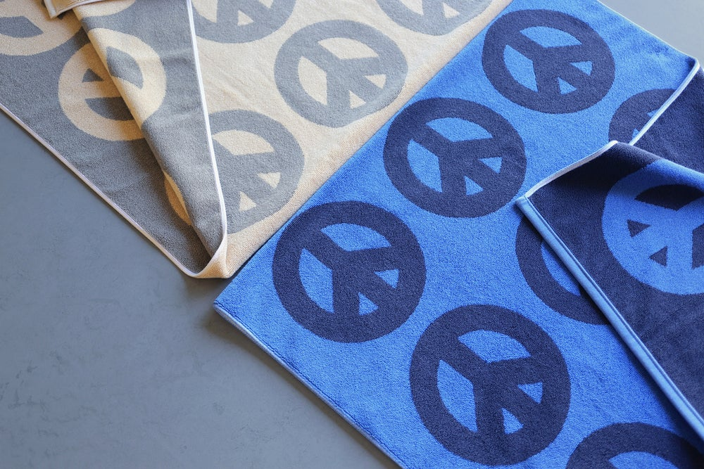 Image of PEACE Towel <div> French Blue & Slate</div>