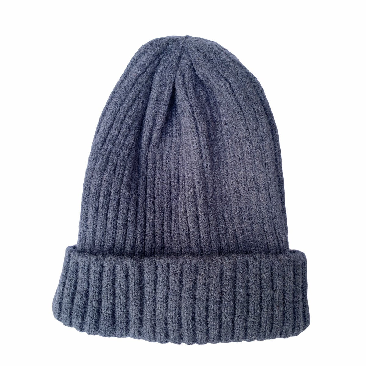 Image of Soft fisherman's style beanie/ watch cap. Smoky Blue