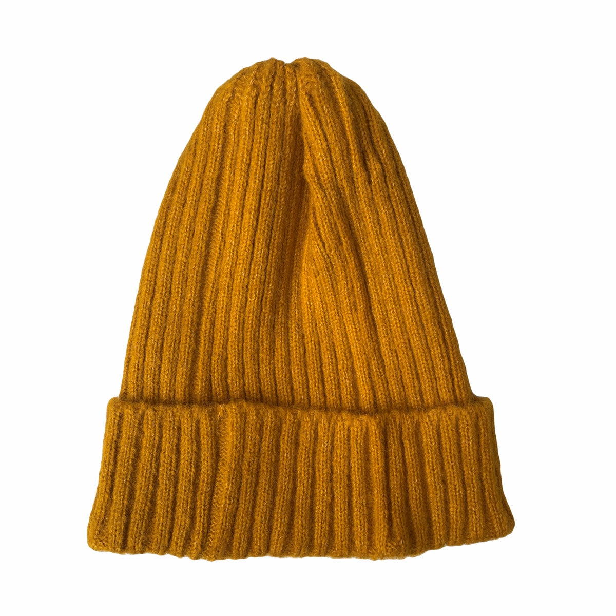Image of Soft fisherman's style beanie/ watch cap. Turmeric