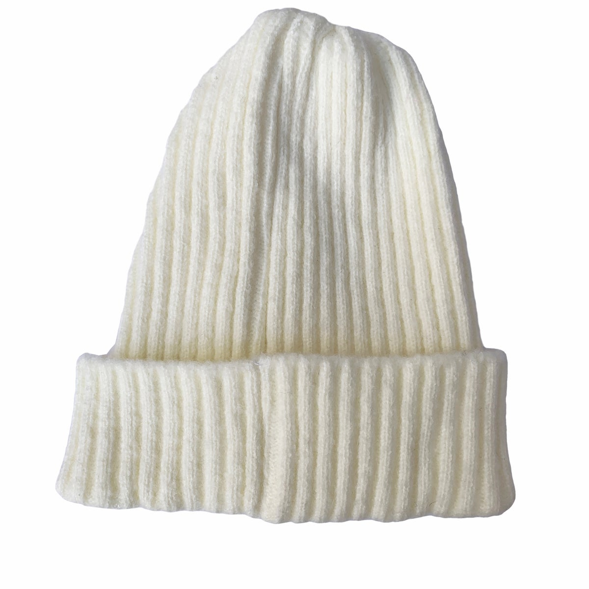 Image of Soft fisherman's style beanie/ watch cap. Milk