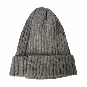 Image of Soft Fisherman's Beanie/ Watch Cap. Dark Grey