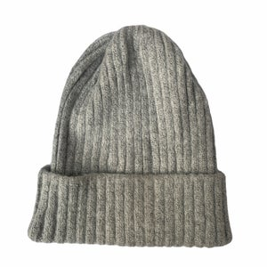Image of Soft Fisherman's Beanie/ Watch Cap. Light Grey