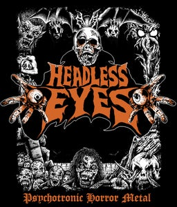 "Image of HEADLESS EYES ""Psychotronic Horror Metal"" T-SHIRT"