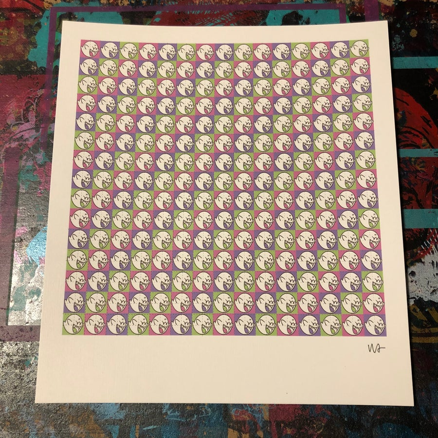Image of 97 GHOSTS BLOTTER ART PRINT