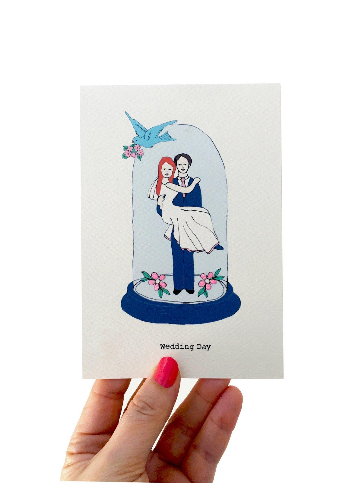 Bell Jar Wedding Card