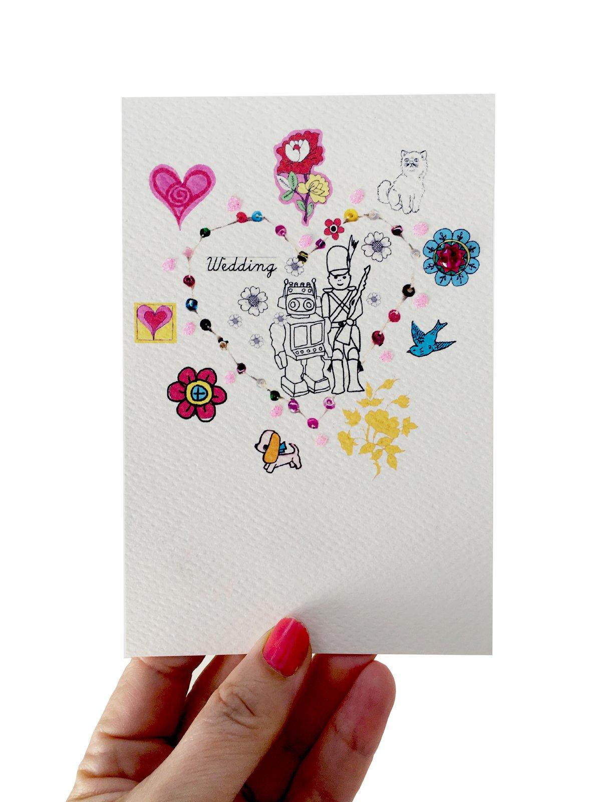 Beaded Wedding Male Wedding Card