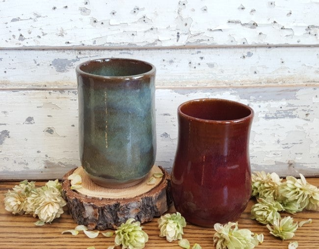 Image of Couple of Drinks on the Deck Tumblers: Avalanche Gorge Green & Red Osier
