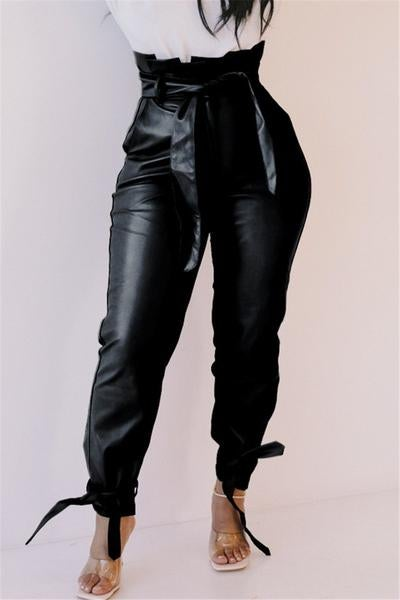 Image of High waisted PU Leather Pants