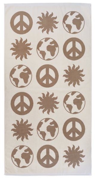 Image of EARTH Towel <div> Cream & Tan</div>