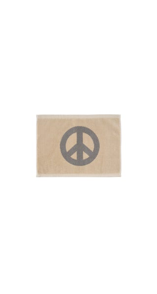 Image of TINY PEACE Hand Towel <div> Color: Cream & Champagne </div>