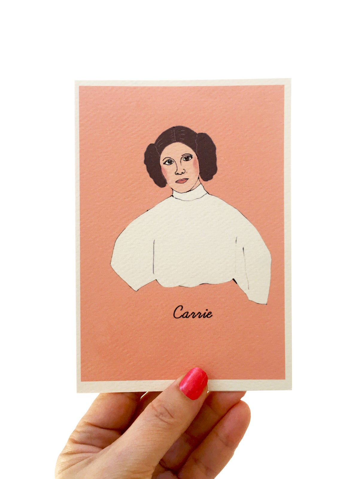 Carrie Fisher Iconic Figures Card